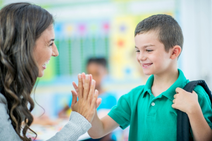 High Five With Teacher